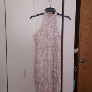 Cotton thread sleeveless Dress